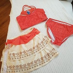 Disney Moana 3 piece swim suit